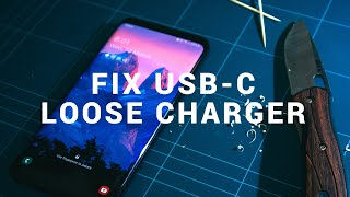 Fix loose and non charging USB C port with this simple guide!