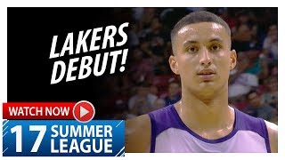 Kyle Kuzma Full Lakers Debut Highlights vs Clippers (2017.07.07) Summer League - 9 Pts, 4 Reb