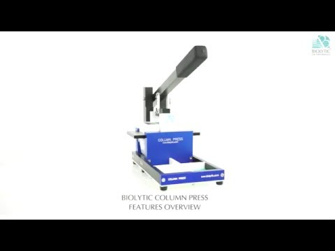 Biolytic Column Press Features Overview
