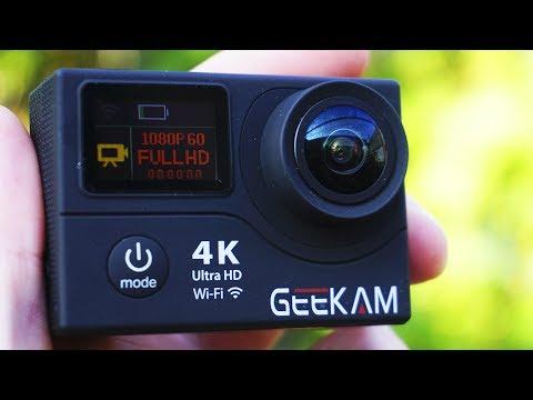 видео: Отличная 4К ЭКШН КАМЕРА! Экшн камера geekam h3r с aliexpress!