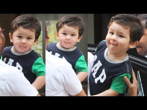 Kareena Kapoor Khan's Son Taimur Ali Khan In A New Hair Cut  Snapped In A Fun Mood