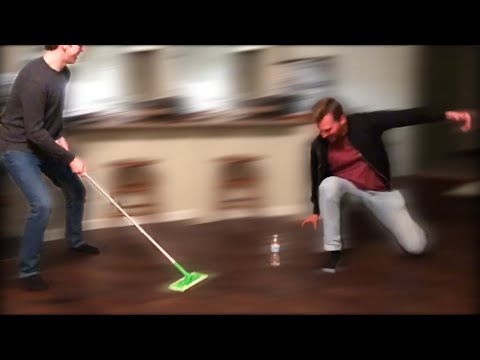 Olympic Curling with Home Items