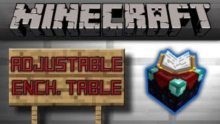 Minecraft - Adjustable Enchantment Table (Easy + Compact)(No Pistons) [Tutorial]