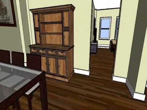 Virtual Renovation Model Merging Kitchen And Maids Room