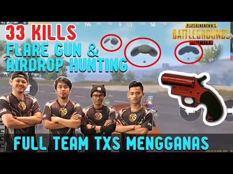 33 Kills!!! Full Team TXS😍 Flare Gun & Airdrop Hunting! Fred