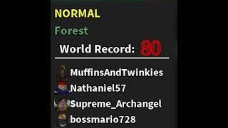 Roblox Der letzte Stand 2- Normal Forest, Welle 80 Weltrekord!