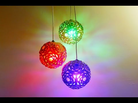 How To Make Hanging Lampshade | pendant lamp| Using Recycled Cardboard lampshade Ideas | DIy Crafts