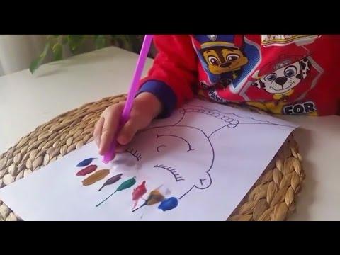 Cocuklarla Etkinlik Montessori Pipetle Boyama Etkinligi Eglenceli