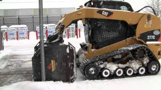 Cat 277C Plowing Snow 2