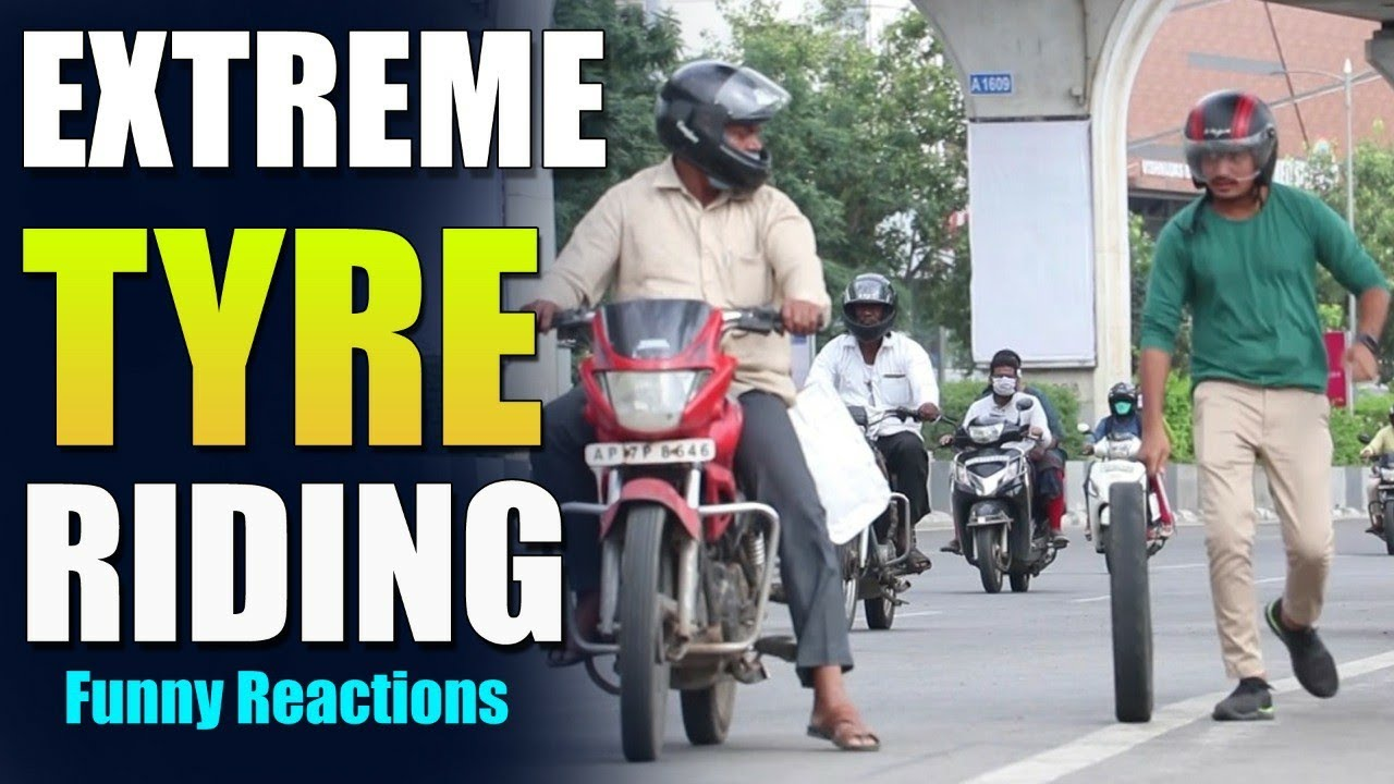 Extreme Tyre Riding Dare | Comment Trolling Dares | VinayKuyya
