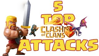 TOP 5 CLASH OF CLANS ATTACKS [Guerre tra clan]