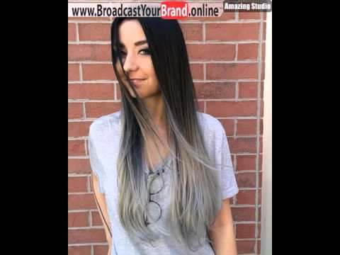 black to gray long straight ombre hair youtube
