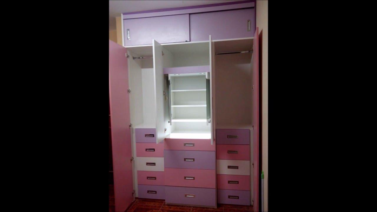 Closet y tocador de melamina maclo tu mejor proyecto for Roperos de melamina para dormitorios