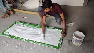 Pop False ceiling Tiles Making || Gypsum Ceiling Board Making || Plaster Ceiling Desing Installation