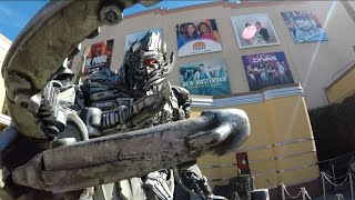 Megatron makes fun of my 17 subsribers count at Universal Studios Hollywood
