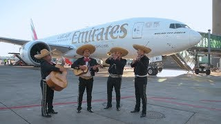 Emirates lands in Mexico City