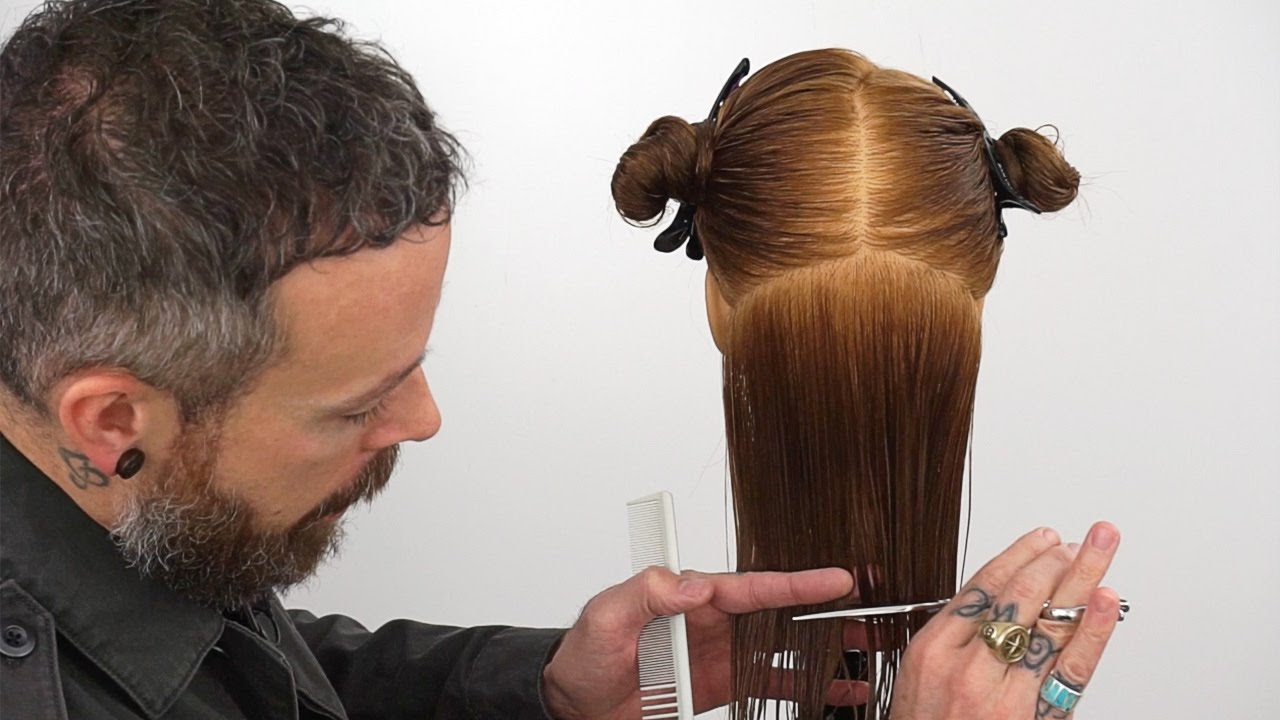 How to cut hair straight  Creating a precision bottom edge