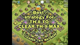 Clash of clans || Best Air Troop attack || COC TH-8