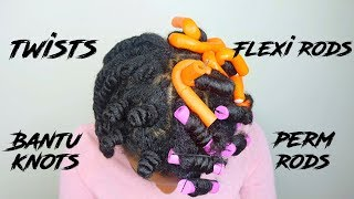 perm rods vs flexi rods vs bantu knots vs twists
