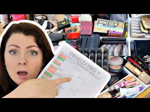Cosmétiques Cruelty Free - Je trie ma collection de maquillage | testé ou non testé sur les animaux