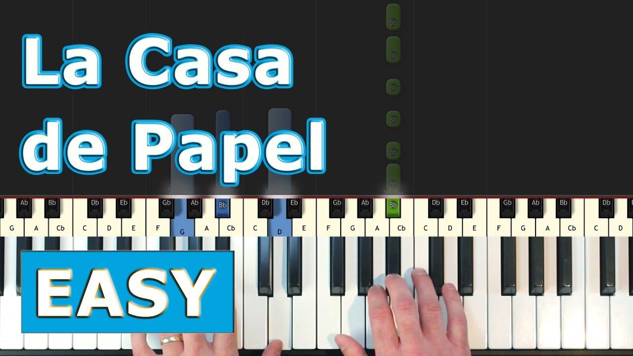 La Casa De Papel Money Heist My Life Is Going On Piano Tutorial Easy Youtube