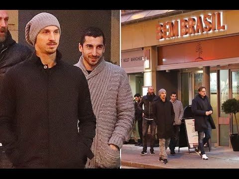 Zlatan Ibrahimovic fuels up on Brazilian barbecue with Henrikh Mkhitaryan as he's backed to play