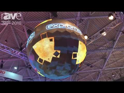 ISE 2018: Expromo Showcases 3D 2 Meter Globe With 8mm LED Display For Hotel Lobby Space