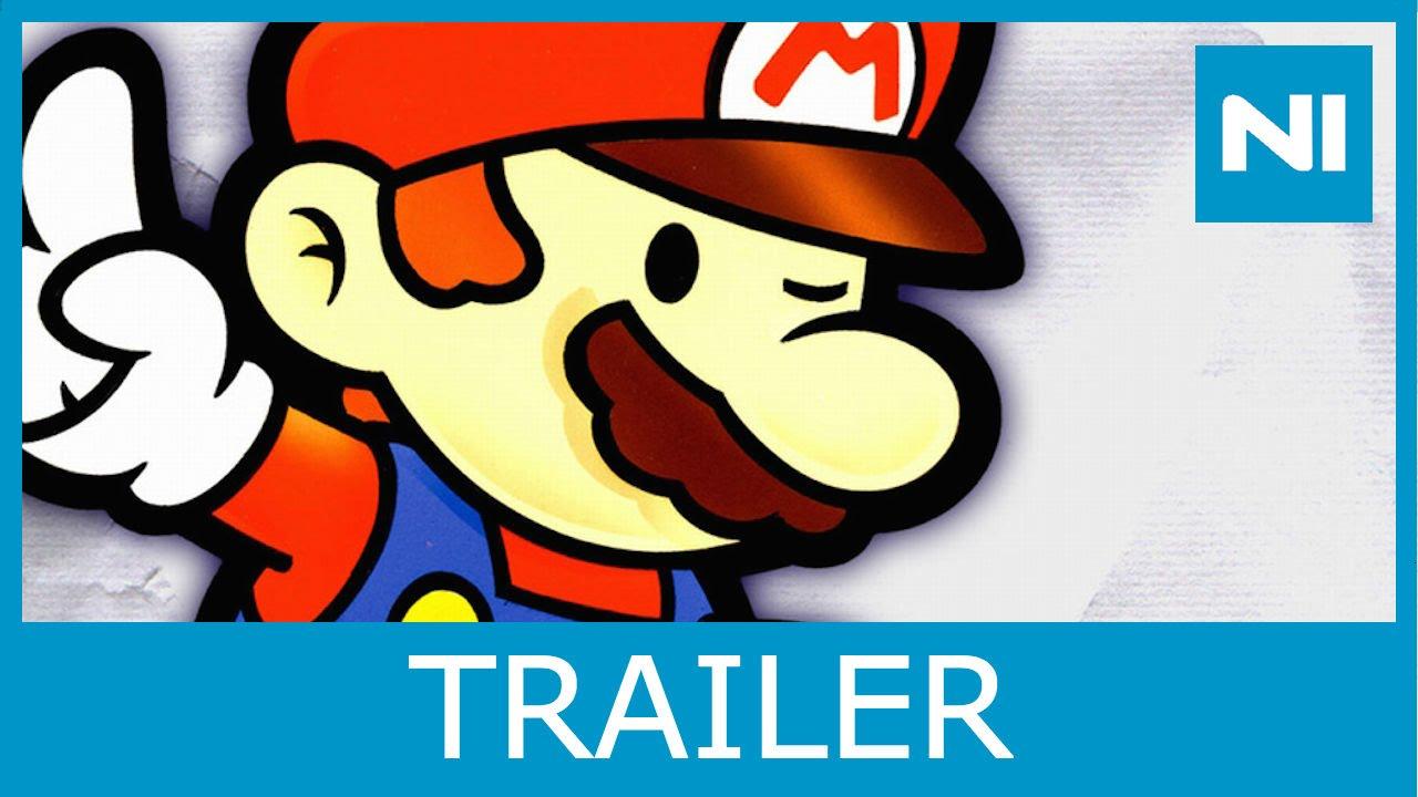 paper mario wii u virtual console launch trailer youtube
