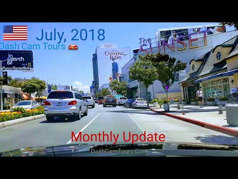 West Hollywood​ Billboard Row Monthly Update || July, 2018 || Dash Cam Tours 🚘