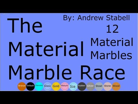 The Material Marble Race (Late 25 subs special)