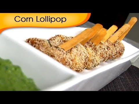 Corn Lollipop - Easy And Quick Vegetarian Starter / Appetizer Recipe By Ruchi Bharani [HD]