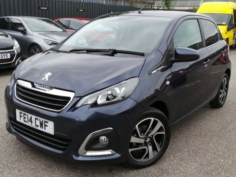 2014 14 peugeot 108 1 2 vti allure 5dr in tahoe blue inc air con and bluetooth youtube. Black Bedroom Furniture Sets. Home Design Ideas