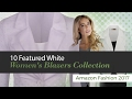 10 Featured White Women's Blazers Collection Amazon Fashion 2017
