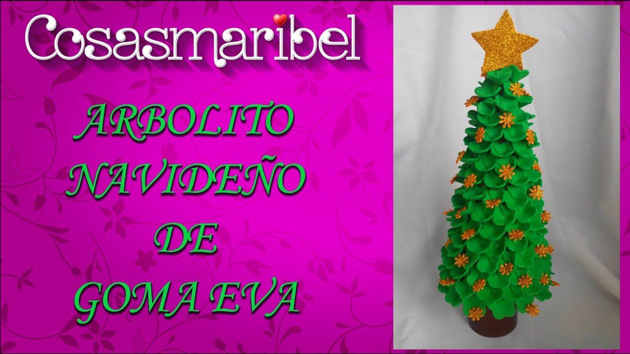 Como hacer un arbolito navide o de goma eva manualidades - Trabajos en goma eva navidad ...