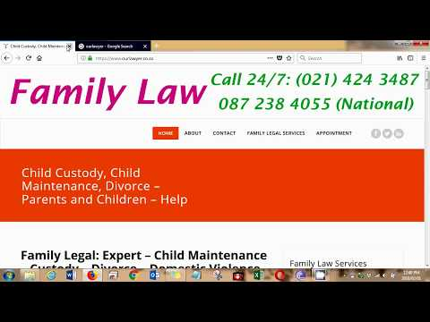 Family Law Child Maintenance Custody Divorce South Africa