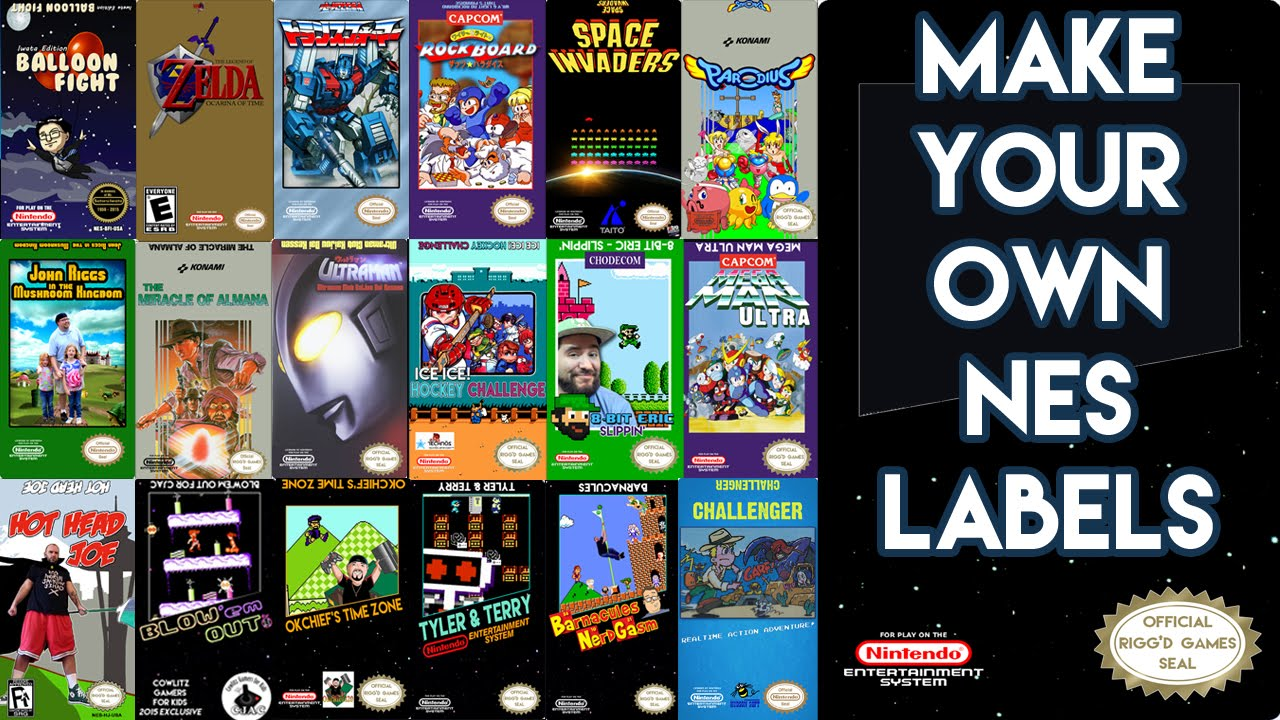 How to Make Nintendo NES Labels - NES Label Design