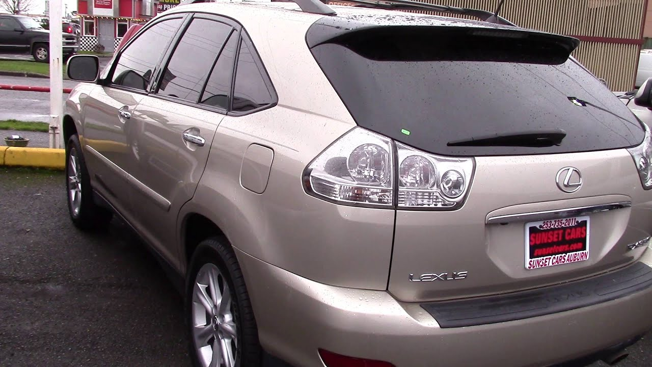 2008 lexus rx 350 stock 95993 at sunset cars of auburn youtube. Black Bedroom Furniture Sets. Home Design Ideas