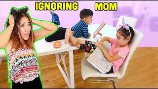 KIDS IGNORING MOM For 24 HOURS!! * Bad Idea * | Jancy Family