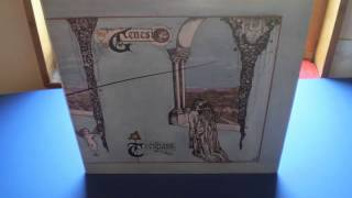 Genesis Tresspass UK Pink Scroll Vinyl Visions Of Angels: