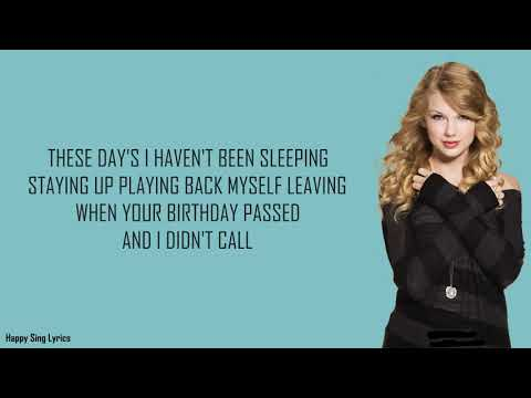 BACK TO DECEMBER - TAYLOR SWIFT (Lyrics)