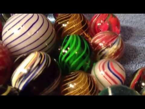 Rare handmade antique vintage marbles
