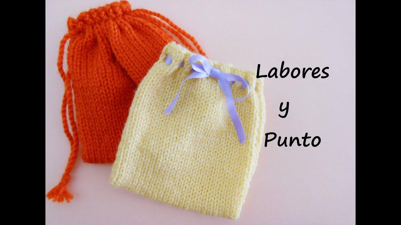 Aprende a tejer una bolsa o saquito multiusos en dos - Como hacer ochos de punto ...
