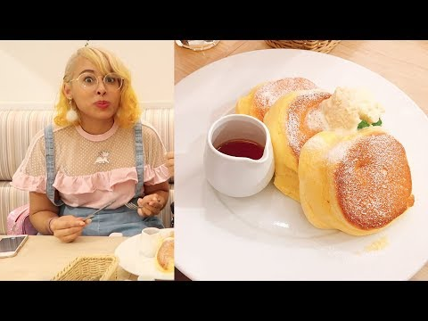 I Ate Japan's Fluffiest Pancakes | Tokyo Dessert Tour :A Happy Pancake