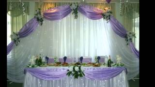 Украшение зала для свадьбы
