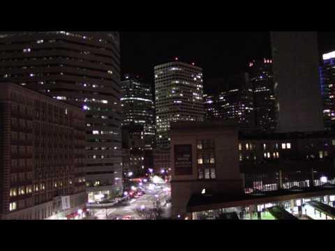 Boston's South Station Cityscape Nighttime Relaxing City Noises ASMR
