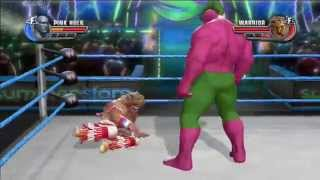 WWE ALL STARS !!! THE ULTIMATE WARRIOR VS PINK PUNK HULK