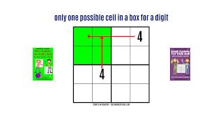 Learn how to play 4x4 Sudoku puzzles (Mini Sudoku for Kids) - Video tutorial with animation