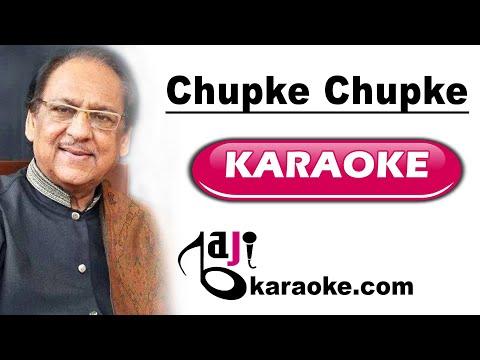 Chupke Chupke Raat Din - Video Karaoke - Gulam Ali - by Baji Karaoke