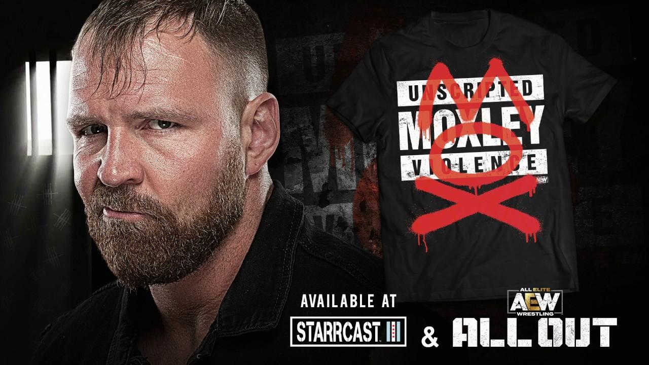 "Jon Moxley MOX AEW Elite Basic 7/"" figura T-Shirt"