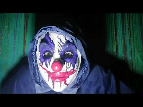 Halloween mask   Scary Evil Clown mask paper mache mask